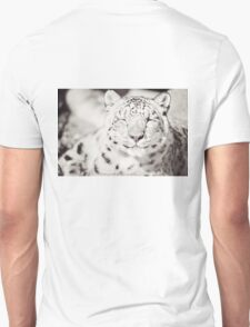 Black and White Snow Leopard T-Shirt