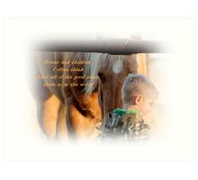 Boys and Horse Sence  Art Print