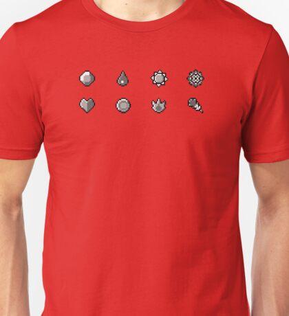 Pokemon Badges Original - Red and Blue Unisex T-Shirt