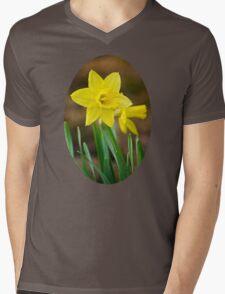 Beautiful Daffodils Mens V-Neck T-Shirt