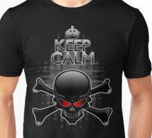 Keep Calm or Die! Black Skull Unisex T-Shirt