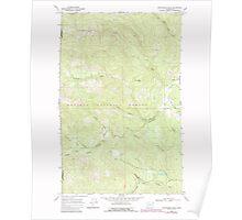 USGS Topo Map Washington State winchester peak wa histmap Poster