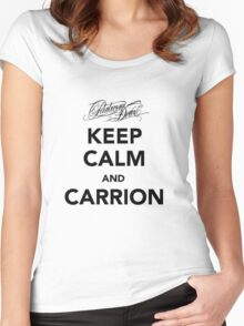 Keep Calm and Carrion Women's Fitted Scoop T-Shirt