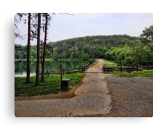 Walk across the dam Canvas Print