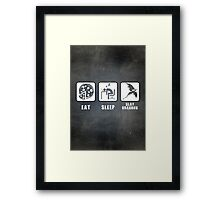 Eat, Sleep, Slay Dragons Framed Print