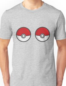 POKEBOOBS - Ladies Pokeball Shirt Unisex T-Shirt