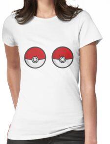 POKEBOOBS - Ladies Pokeball Shirt Womens Fitted T-Shirt