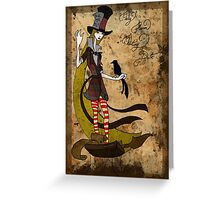 Mad Alice: Why is a Raven like a Writing Desk? Greeting Card