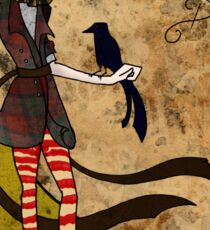 Mad Alice: Why is a Raven like a Writing Desk? Sticker