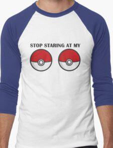 POKEBOOBS - Ladies Pokeball Shirt Men's Baseball ¾ T-Shirt