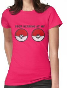 POKEBOOBS - Ladies Pokeball Shirt Womens Fitted T-Shirt