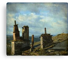 Details of an ancient town Canvas Print