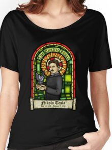 Tesla: The Electric Jesus Women's Relaxed Fit T-Shirt