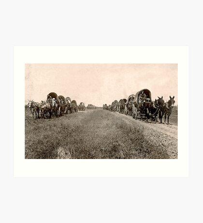 wagon train Art Print