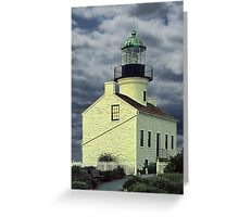 Cabrillo National Monument Lighthouse in San Diego Greeting Card