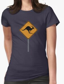 Kangaroo Dinosaur sign Womens Fitted T-Shirt