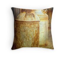 Creamery Cans in 1880 Town No 3098 Throw Pillow