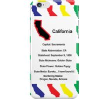 California Information Educational iPhone Case/Skin