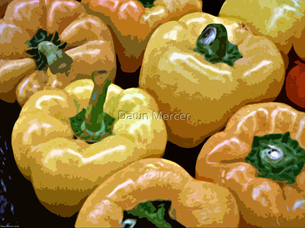 Orange And Yellow Bell Peppers by MissDawnM