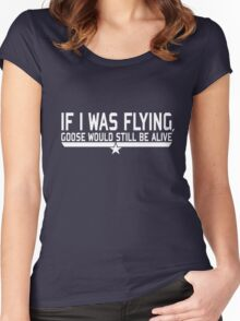 If I was flying... Women's Fitted Scoop T-Shirt