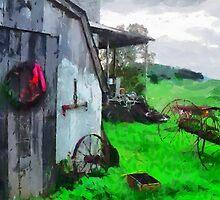 Wreath on barn door ... no border by drivebye