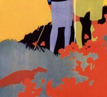 Art Deco Pacific Crest Trail hiking vintage travel poster Sticker
