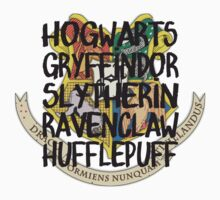 Harry Potter Crest Houses Kids Clothes