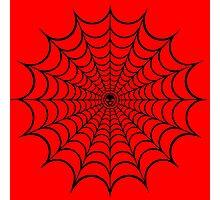 Spider Web Black Photographic Print