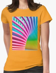 Rainbow Slinky 3 Womens Fitted T-Shirt