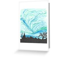 Blue Green Day Greeting Card
