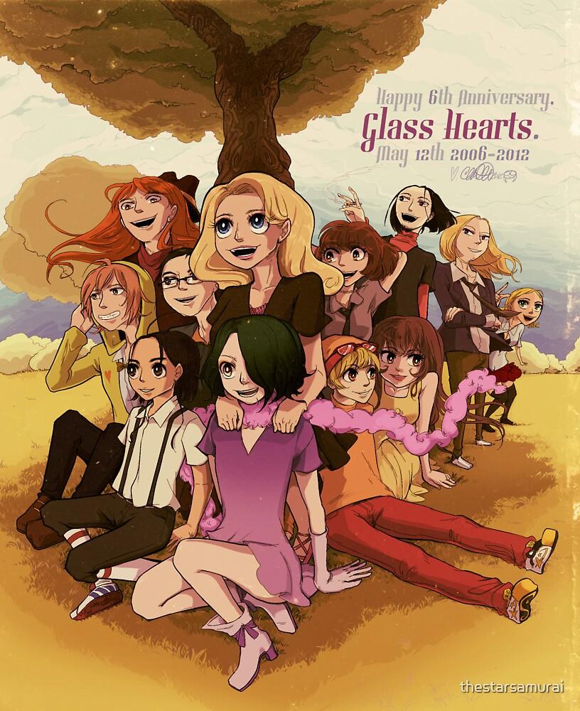 Glass Hearts Anniversary 6 Illust. by thestarsamurai