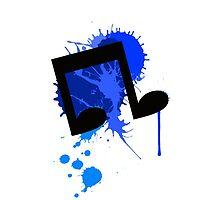 Vinyl Scratch Paint Splatter iPhone/iPod Touch  by Zarrex