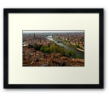 Verona City Scape from Castel San Pietro Framed Print