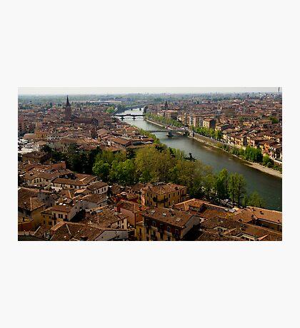 Verona City Scape from Castel San Pietro Photographic Print