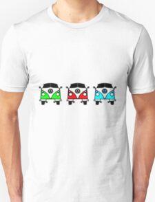 VW Camper Van Threesome Unisex T-Shirt