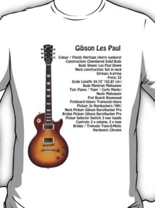 Gibson Les Paul Guitar Specification T-Shirt