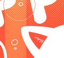 Pop: Orange  Sticker