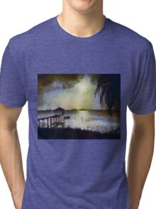 Monet sunset ... no border Tri-blend T-Shirt