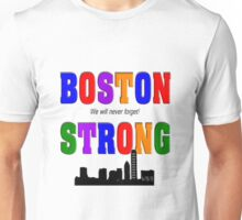 Boston Strong Skyline Unisex T-Shirt