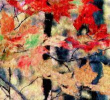 Fall Leaves Monet ..... no border Sticker