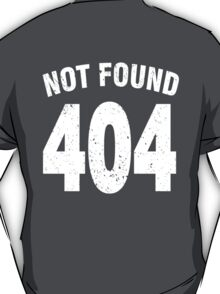 Team shirt - 404 Not Found, white T-Shirt