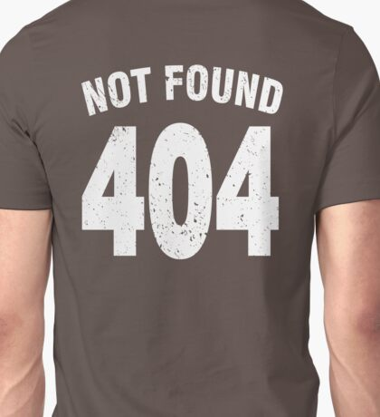 Team shirt - 404 Not Found, white Unisex T-Shirt