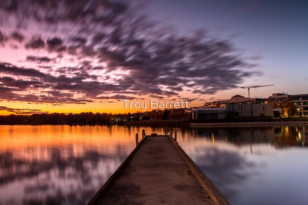 Colourful sky at Lake Ginninderra by Troy Barrett