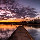 Colourful sky at Lake Ginninderra by Troy Barrett