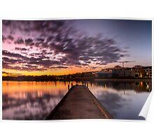 Colourful sky at Lake Ginninderra Poster