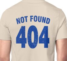 Team shirt - 404 Not Found, blue Unisex T-Shirt