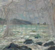Fishing Nets at Pourville by Claude Monet Sticker