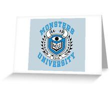 Monsters University Greeting Card