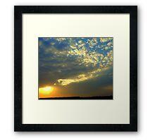 Liquid sunset Framed Print