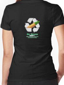 Green Tip Women's Fitted V-Neck T-Shirt